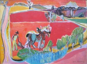 Les Laboureurs, Jean Lombard, 1946, 100 x 140 cm