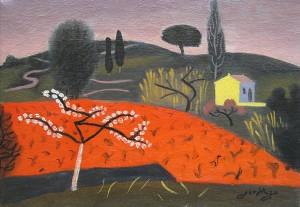 Jean Hugo, 'L'arbre en Fleurs' 300dpi